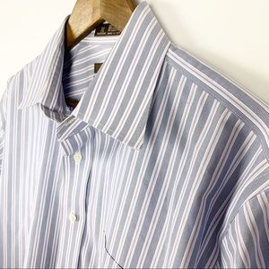 Nordstrom's Mens Blue Striped Dress Shirt